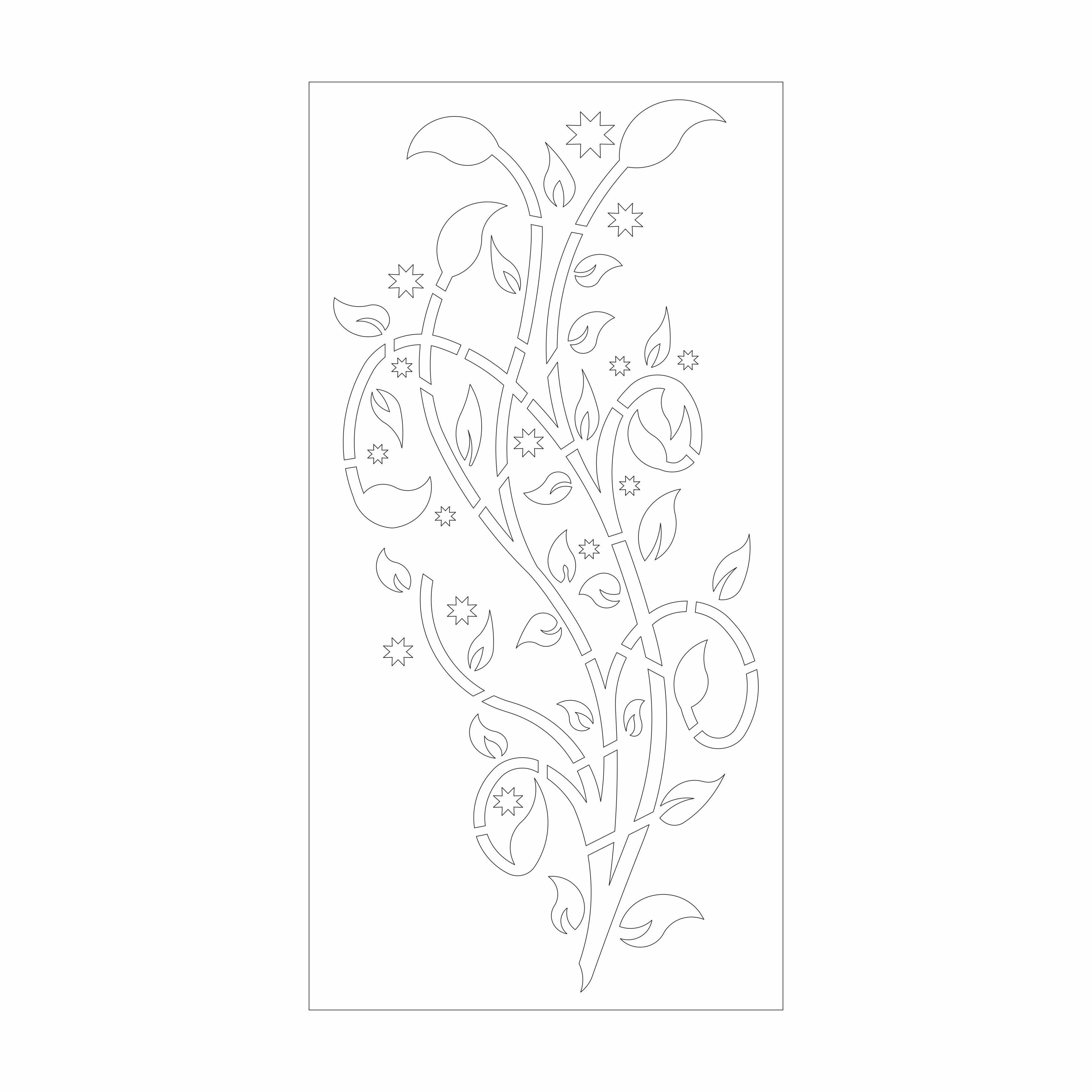 دانلود طرح گل و بوته درب فلزی حیاط