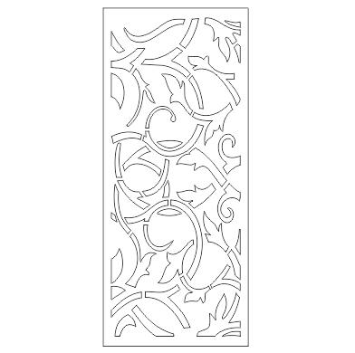 طراحی فایل برش پلاسمای درب ورودی دو لنگه حیاط