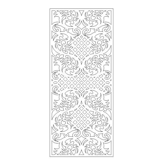 دانلود فایل اتوکد طرح های سنتی درب حیاط