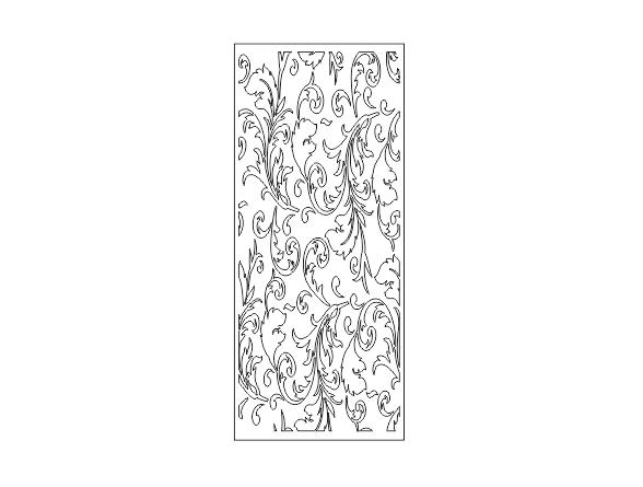 دانلود طرح پارتیشن گلدار فلزی برش پلاسما