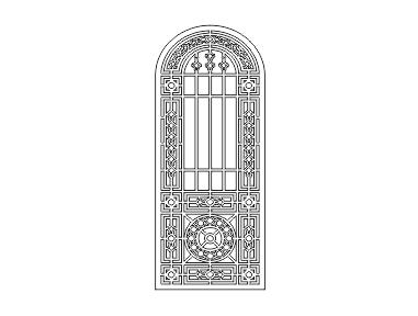 دانلود فایل اتوکد طرح درب چوبی ورودی ساختمان