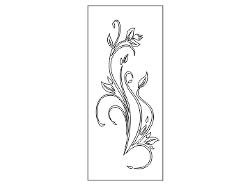 دانلود طرح تزئینی گل برای درب فلزی پلاسما