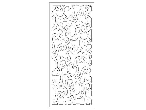 دانلود فایل برش طرح درب فلزی ورودی منازل