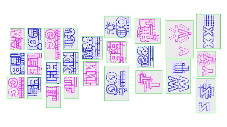 دانلود پک کامل طرح لیزری انواع باکس حروف کامل انگلیسی