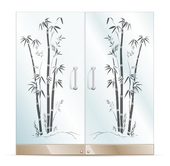 دانلود وکتور طرح بامبو برای سند بلاست روی شیشه